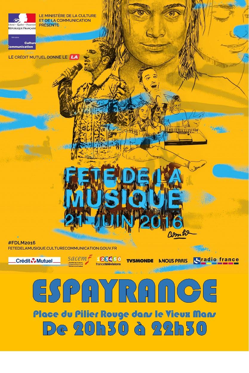 Affiche fete de la musique du mans 2016